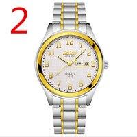 Men's automatic mechanical watch steel men's watch double calendar luminous waterproof multi function watch12#