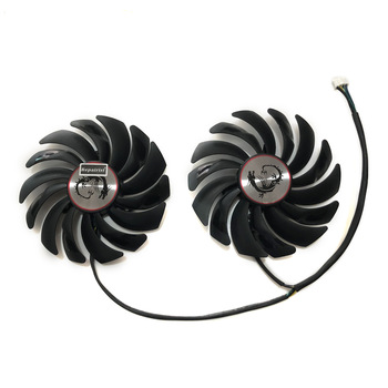 2pcs/lot cooler Fans RX580 RX480 Video Card cooling fan For Radeon RX 480 MSI RX 580 asic bitcoin mine GPU Graphics Card Cooling 56pcs lot direct heat stencils for intel graphics card video card chips