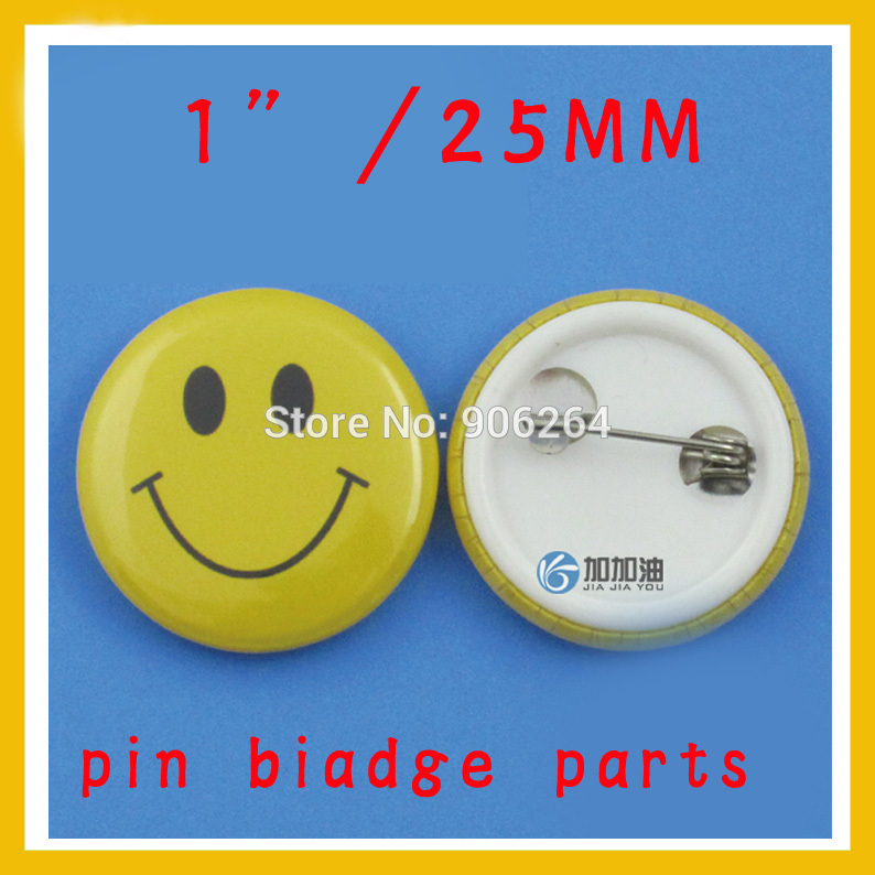 1 25mm 100 Sets NEW Professional All Steel Badge Button Maker Pin Back Metal Pinback Button Supply Materials life is too short to be anything but happy pinback button 1 25 pin badge