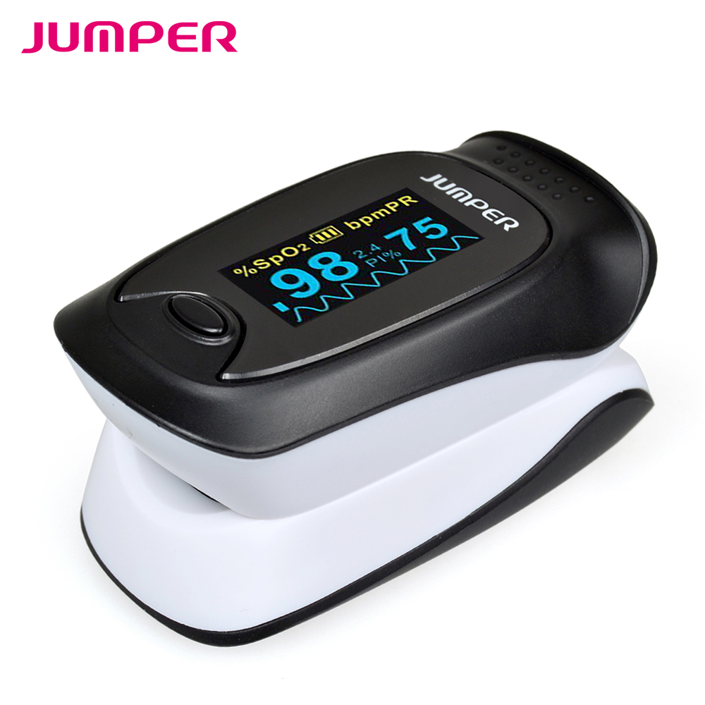 Jumper SH 500D CE OLED Portable Digital Finger Pulse Oximeter Blood Oxygen SpO2 Saturation oximetro de dedo  Monitor-in Blood Pressure from Beauty & Health