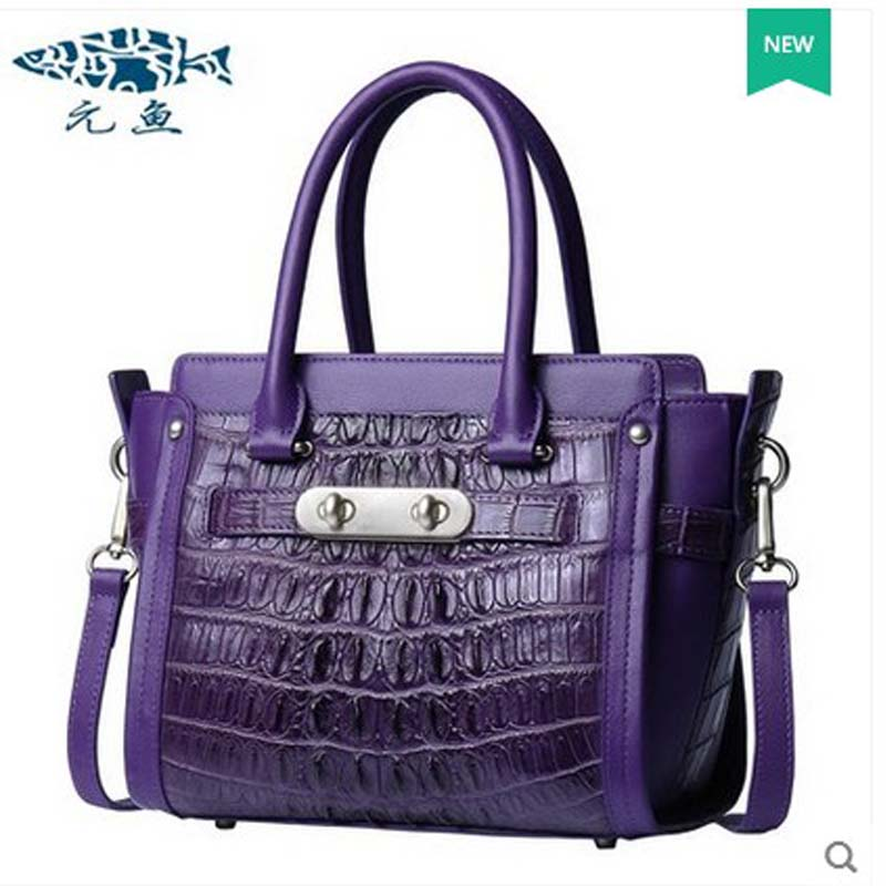 2018 Yuanyu  new hot freeshipping  crocodile leather women handbag thailand imported women bag yuanyu new crocodile wallet alligatorreal leather women bag real crocodile leather women purse women clutches