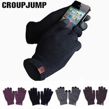 GROUP JUMP 2020 zimowe rękawiczki damskie i męskie dziewczęce dzianinowe rękawiczki ciepłe miękkie rękawiczki damskie zimowe rękawiczki z ekranem dotykowym Unisex tanie tanio GROUPJUMP Dla dorosłych COTTON Akrylowe List Nadgarstek Moda S8R0601132