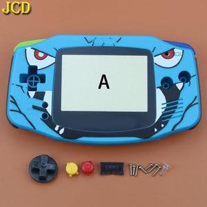 Image 4 - Jcd 1 pcs 풀 세트 하우징 쉘 케이스 커버 + 스크린 렌즈 프로텍터 + 게임 보이 어드밴스 gba 콘솔 용 스틱 라벨