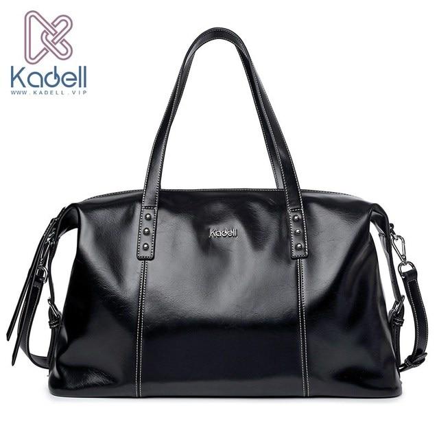 Kadell брендовая мягкая кожа Сумки Для женщин унисекс Чемодан сумка Дорожные сумки дамы большой Повседневное сумки Для мужчин Сумки через плечо ноутбук кошелек