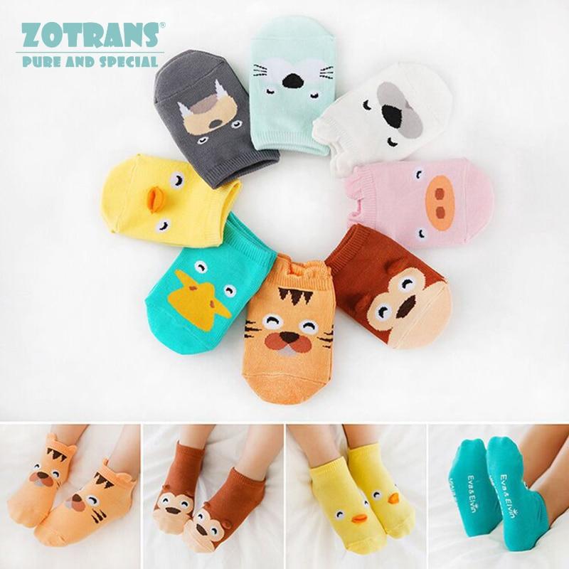 Baby Boy Socks Newborns Cotton Summer Aumtumn Cartoon Animal Socks Infant Anti-Slip Toddle Socks Girls Short Socks For 0-2Years
