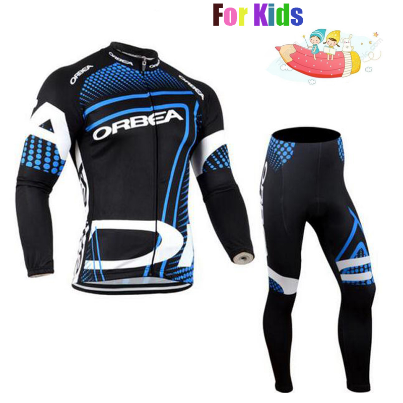 Professional Customization ORBEA Cycling Jersey Set for Children Long Sleeve Quick Dry Kid Riding Suit Ropa Ciclismo Kit