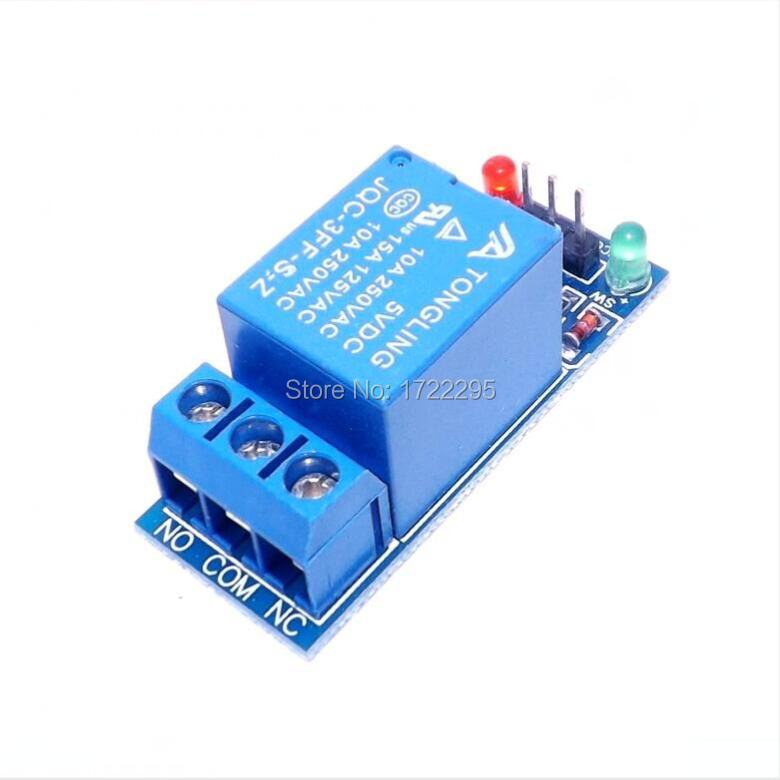 1 Channel Relay Module Interface Board Shield For Arduino 5V Low Level Trigger One PIC AVR DSP ARM MCU DC AC 220V 5v 4 channel relay module for arduino pic arm dsp avr msp430 blue