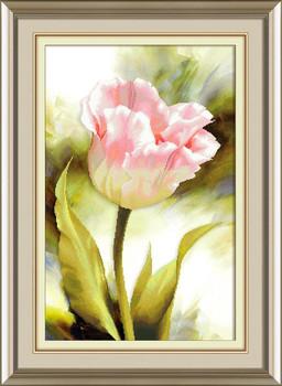Robótki majsterkowanie ściegiem krzyżykowym zestaw do haftowania kwiat tulipana wyszywana dekoracja obraz dekoracja ścienna hurtownia tanie i dobre opinie QIUSI Floral PACKAGE Obrazy CN (pochodzenie) Składane 100 COTTON Duszpasterska bag box packing Tulip flowers cross stitch embroidery