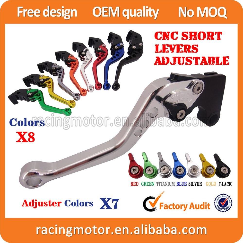Cnc courtes réglables frein d'embrayage leviers pour Honda CB599 CB600 Hornet 1998 - 2006