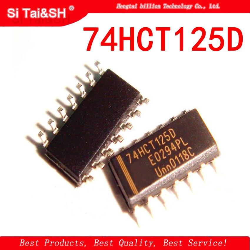 10pcs/lot 74HCT125D 74HCT125 SOP New Original Logic IC Buffer