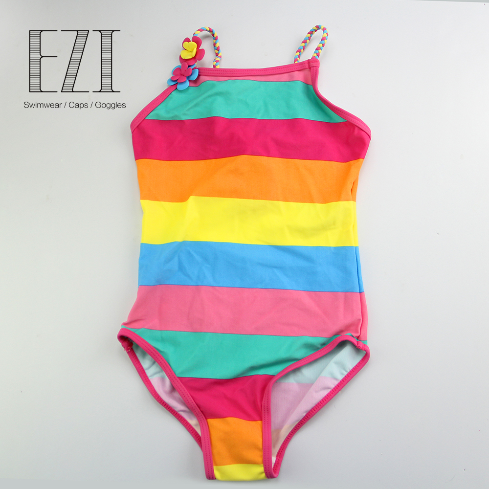 JULY SAND girl's swimwear children swimsuit rainbow strip baby bathing suit for kids baby girls neje yw0007 2 diy puzzle toy space sand air magic clay plasticine sand for kids pink 0 5kg