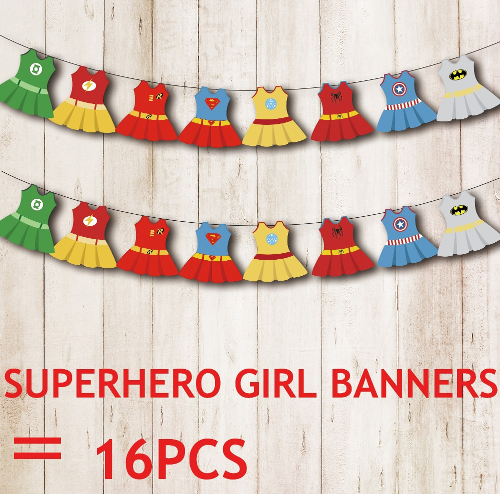 Superhero Girl Banners Baby Shower Birthday Party Decorations Kids Event U0026  Party Supplies Birthday Party Decorations Kids In Banners, Streamers U0026  Confetti ...