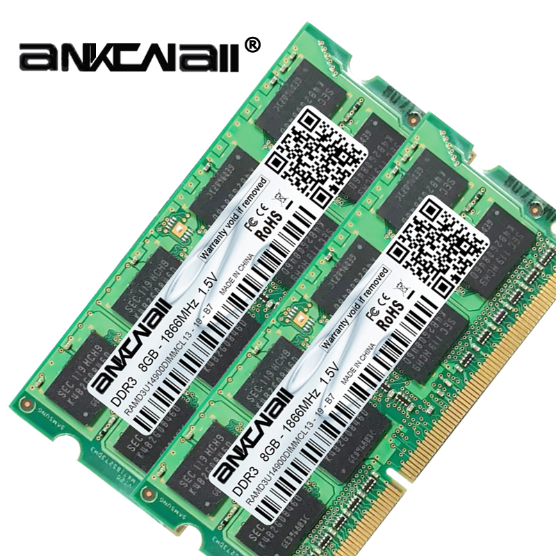 New DDR3L 2GB/<font><b>4GB</b></font> /8G RAM 1600Mhz 1866MHz 1333MHz <font><b>1066</b></font> PC3 10600S Laptop PC DIMM Memory 204pins For Intel System High Compatible image