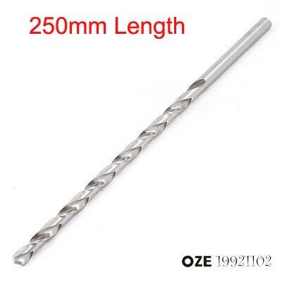 uxcell 12mm Drilling Dia 250mm Length HSS Straight Shank Twist Drill Bit Black