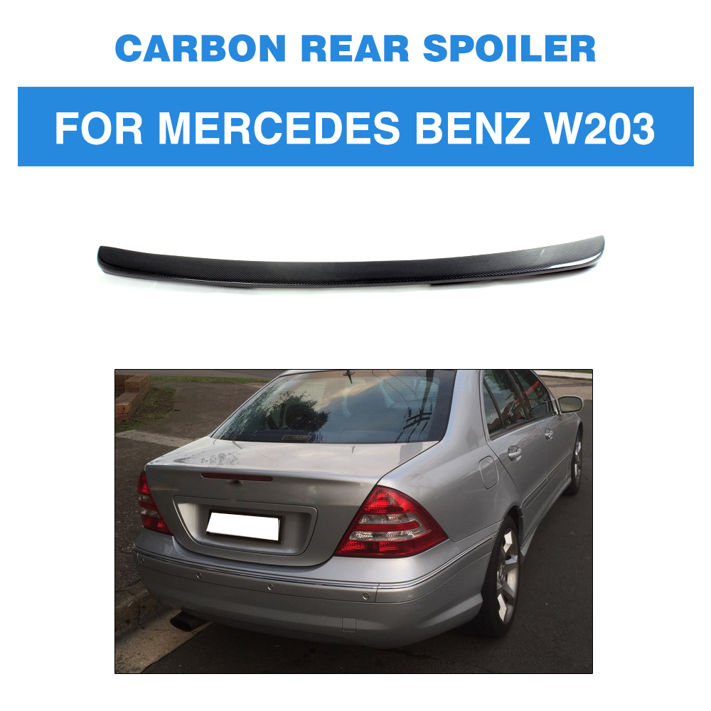 For Mercedes Benz W203 2001 - 2006 C200 C240 C320 C55 AMG C Class Carbon Fiber Rear Trunk Spoiler Boot Lip Wing 2007 bmw x5 spoiler