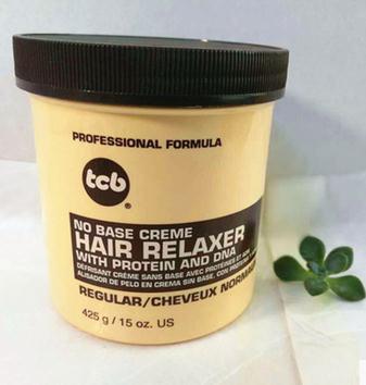 TCB No Base Creme Hair Relaxer Regular 15 oz