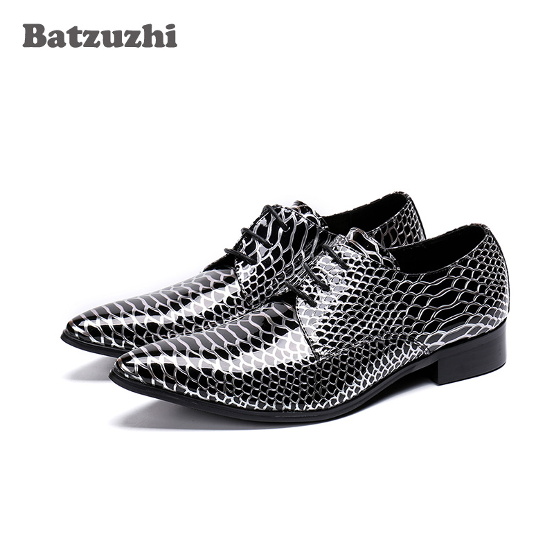 Batzuzhi New Handmade Men Shoes Pointed Toe Lace-up Formal Shoes Men Business and Party zapatos de hombre,Big Sizes EU6 to 12Batzuzhi New Handmade Men Shoes Pointed Toe Lace-up Formal Shoes Men Business and Party zapatos de hombre,Big Sizes EU6 to 12