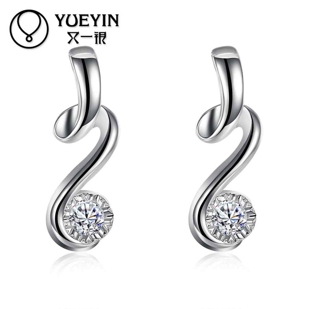 New Arrival Women's silver plated earrings Romantic jewelry long earrings for female Nickle Free Antiallergic orecchini