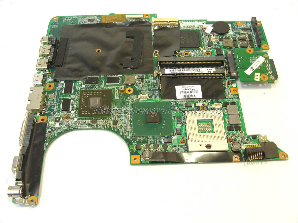 SHELI laptop Motherboard For hp Pavilion DV9000 DV9500 DV9700 434659-001 for intel cpu with Non-integrated graphics card DDR2 sheli laptop motherboard for hp pavilion dv7 507169 001 la 4083p pm45 ddr2 9600m non integrated graphics card