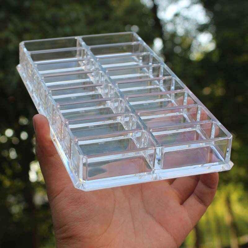 Transparent Makeup Organizer Powder Cake Storage Box Clarity Cosmetic Makeup Holder Eyeshadow Display Shelf