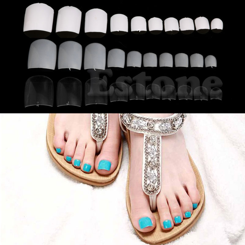 Hot Selling 500PCs DIY French False Fake Feet Toenail Toe Nail Art ...