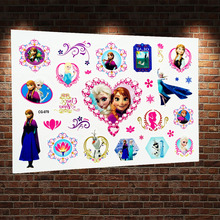 Froze Winter Ice Princess Anna Elsa Flash Temporary Tattoo Stickers Child Fake Tatoo Body Art Arm Waterproof Tattoo Paste Decals
