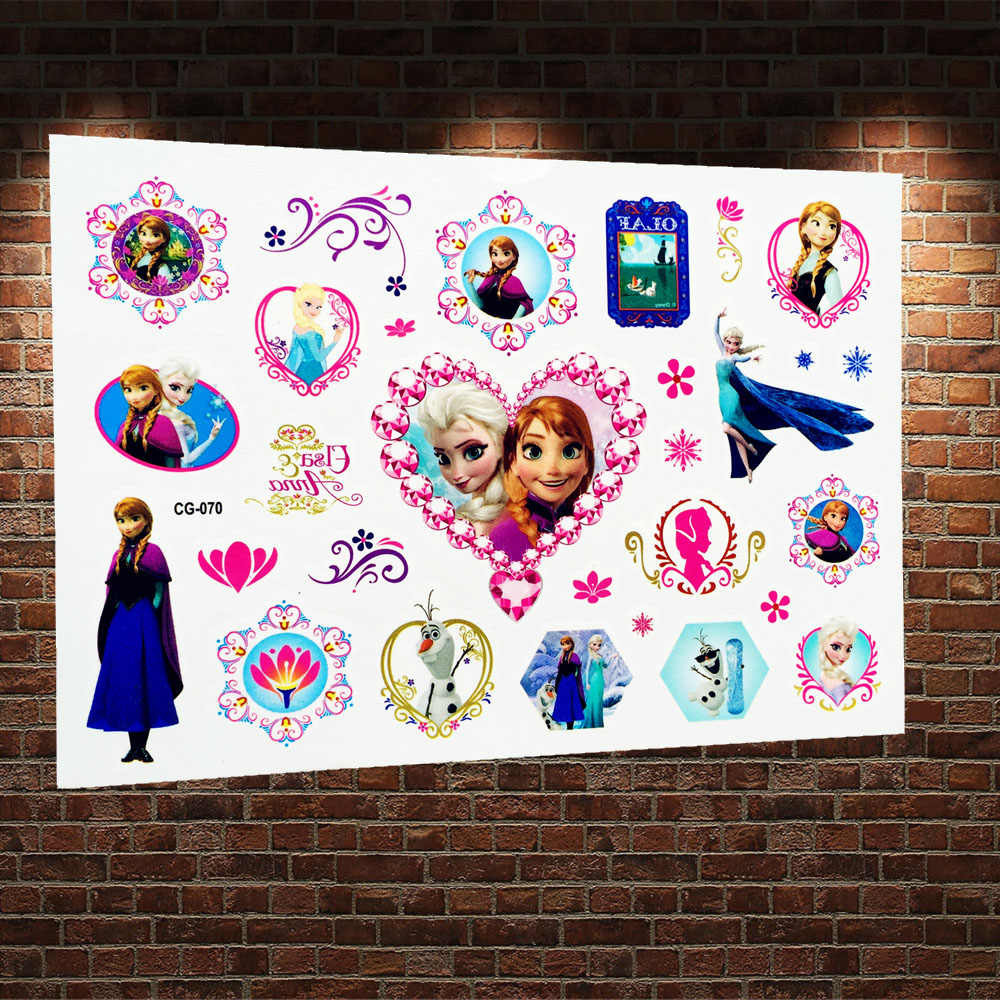 a60b3946d Detail Feedback Questions about Froze Winter Ice Princess Anna Elsa Flash Temporary  Tattoo Stickers Child Fake Tatoo Body Art Arm Waterproof Tattoo Paste ...