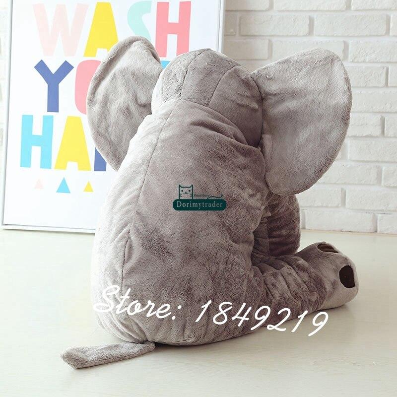Dorimytrader 80cm Plush Cartoon Elephant Toy Giant Stuffed Soft Hot Animal Hug Pillow Doll Baby Present DY61222-in Stuffed & Plush Animals from Toys & Hobbies    3