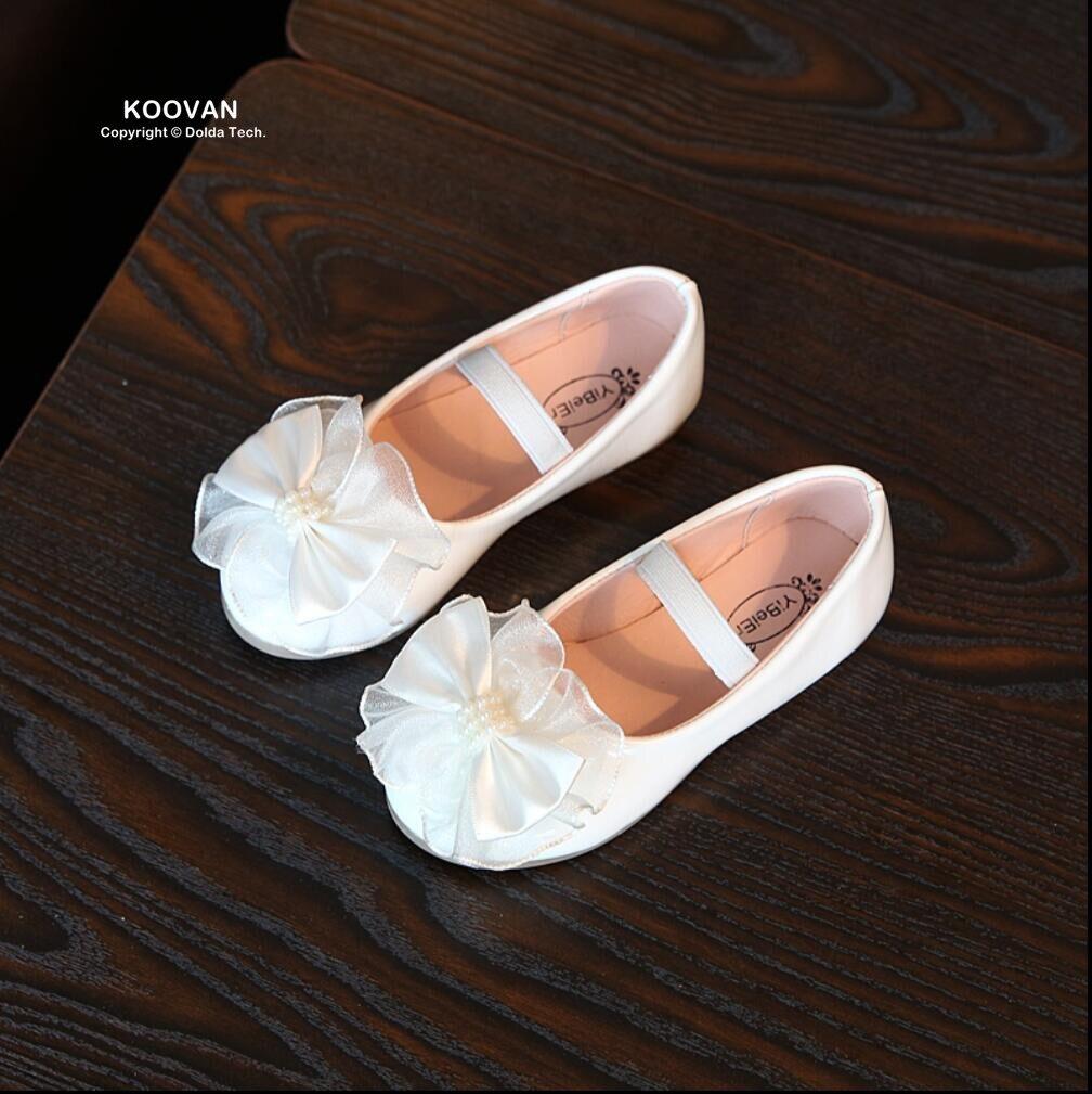Koovan Children Flats 2017 Childrens Spring Autumn Bowknot Shoes Kids Princess Shoes Single Flat Girls Dance Shoes