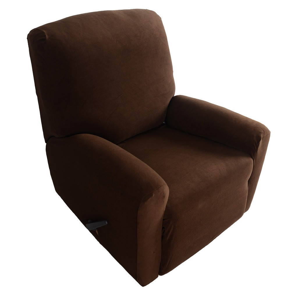 Household Elastic Recliner Cover Set High Quality Soft Polyester Spandex One Seater Recliner Cover Brown Living Room DecorationHousehold Elastic Recliner Cover Set High Quality Soft Polyester Spandex One Seater Recliner Cover Brown Living Room Decoration
