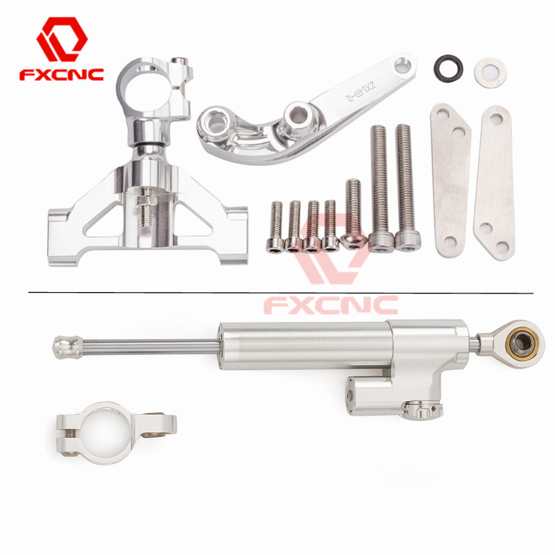 Steering Damper /& Bracket Mounting Kit For Kawasaki Ninja ZX-14 ZZR1400 06-15