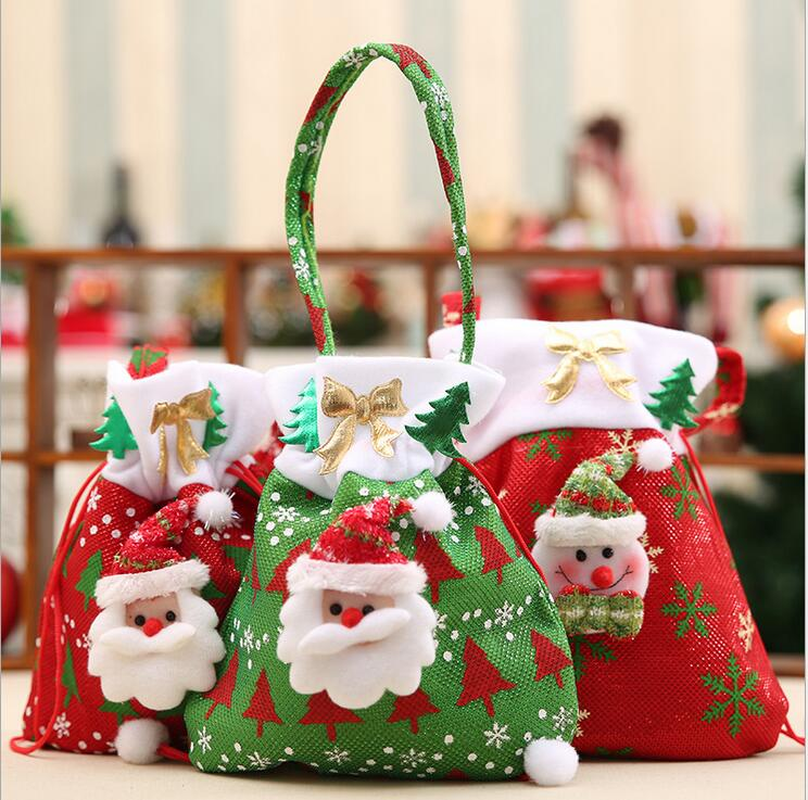 Christmas Bags In Bulk.Us 197 4 6 Off Christmas Gift Candy Bags Christmas Bags Drawstring Favor Gift Package Bulk Set Of Multi Style Neon Colored Goodie Bags 100pcs In