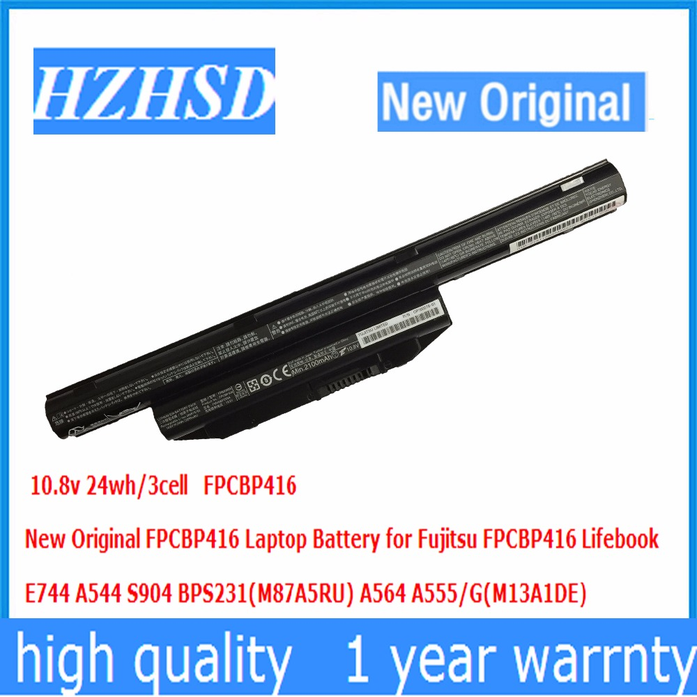 10.8v 24wh/3cell New Original FPCBP416 Laptop Battery for Fujitsu FPCBP416 Lifebook E744 A544 S904 BPS231(M87A5RU)