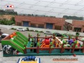 Children Party Rental inflatable slide fun city for outdoor palyground