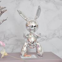 Jeff Koons Rabbit Cute Animals Resin Sculpture Wedding Decor Balloon Rabbit Nordic Style Home Decoration Accessories