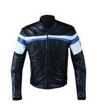 Envío gratis protección pu cuero de la motocicleta chaqueta de los hombres chaqueta de moto con 5 sets de equipo de protección extraíble