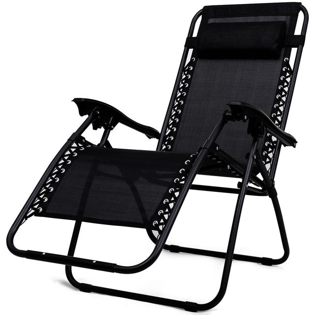 3PC Outdoor Zero Gravity Reclining Lounge Chairs w/ Table 4