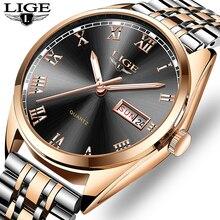 2019New часы lige Для мужчин топ модного бренда хронограф мужской Нержавеющаясталь Водонепроницаемый наручные часы для делового Мужчины Relogio Masculino