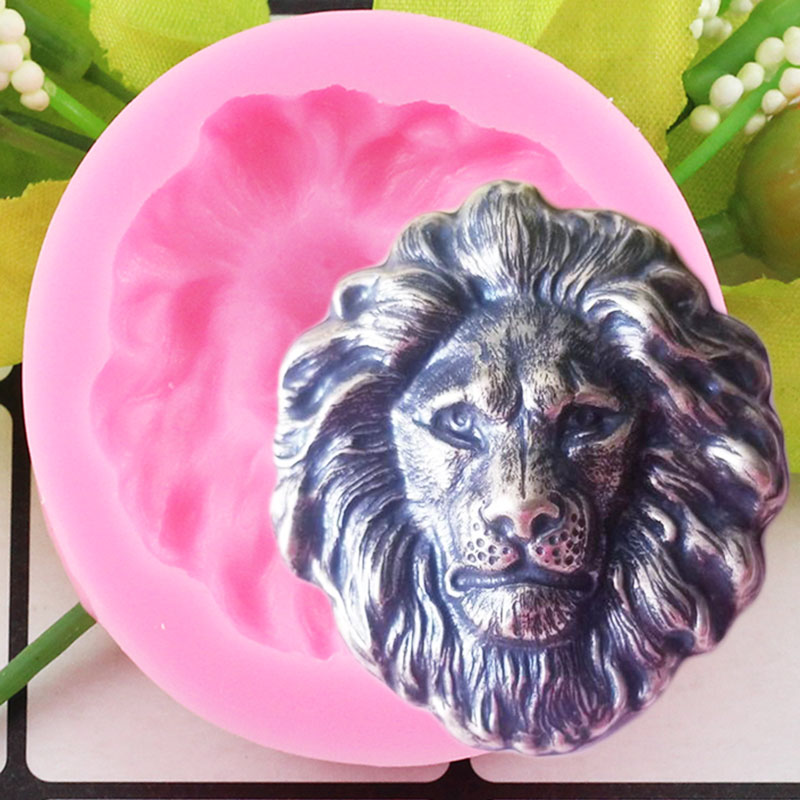 3D Lion Head Silicone Mold Chocolate Fondant Mold Animals DIY Baking Party Cake Decorating Tools Soap Polymer Clay Candy Mould