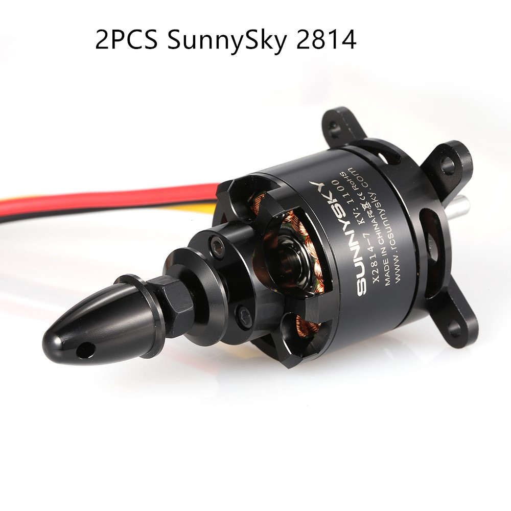 2PCS 900KV SunnySky X2814 2814 3-5S Brushless Motor for Fixed-wing Drone RC Motor Believer UAV 1960mm RC Airplane Helicopter a2212 1400kv motor with installation kit for fixed wing rc drone brushless outrunner motor for aircraft quadcopter helicopter