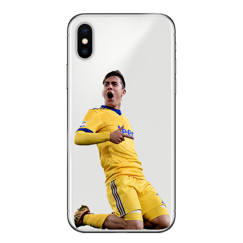 Footballer Sports Soccer Football Pattern Print Design Soft Silicone Phone Cases Cover for Iphone 5S SE XS MAX XR 6 6S 7 8 Plus in Fitted Cases from Cellphones Telecommunications