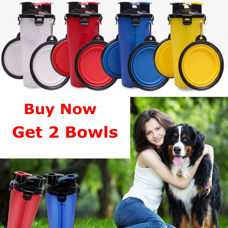 Pet Bottle Outdoor New Bowl For Dogs And Cats Portable Feeder Fold able Water Bottle Dog