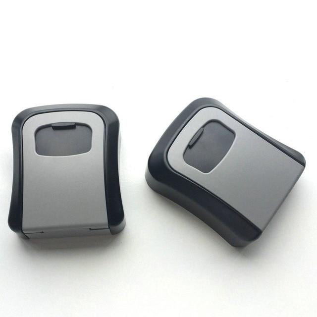 Key Safe Box Outdoor Digit Wall Mount Combination Password Lock Keys Storage Box Aluminum Alloy Material Security Safes OS5402