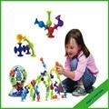 Nuevos productos juguetes educativos ventosa Squigz juguete creativo tuerca de montaje juguetes de Silicon le gusta Squigz Starter Set 36 unids