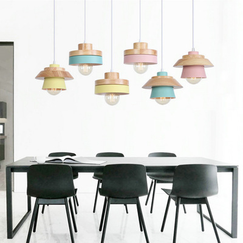 LOFT industrial wooden chandelier styling cafe single head round square creative decorative wrought iron chandelierLOFT industrial wooden chandelier styling cafe single head round square creative decorative wrought iron chandelier