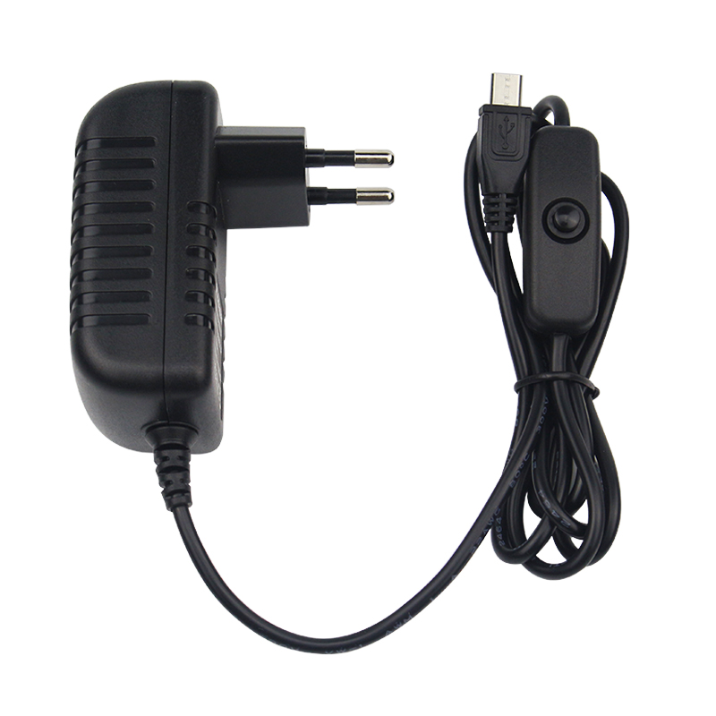 Raspberry Pi 3 Model B Power Adapter 5V 3A Micro USB with Switch EU/US/AU/UK Black Power Charger Supply for Raspberry Pi 3B+ 2pcs 5v 3a eu raspberry pi 3 power supply switch button micro usb interface power charger adapter 5v3a for raspberry pi 3a usb