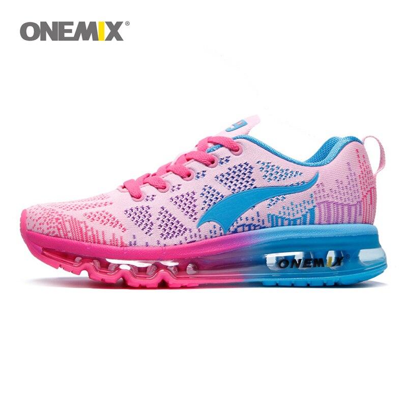 ONEMIX women sport running shoes music rhythm ladies sports shoes air cushions outdoor sports shoes women shoes size EU 35-40