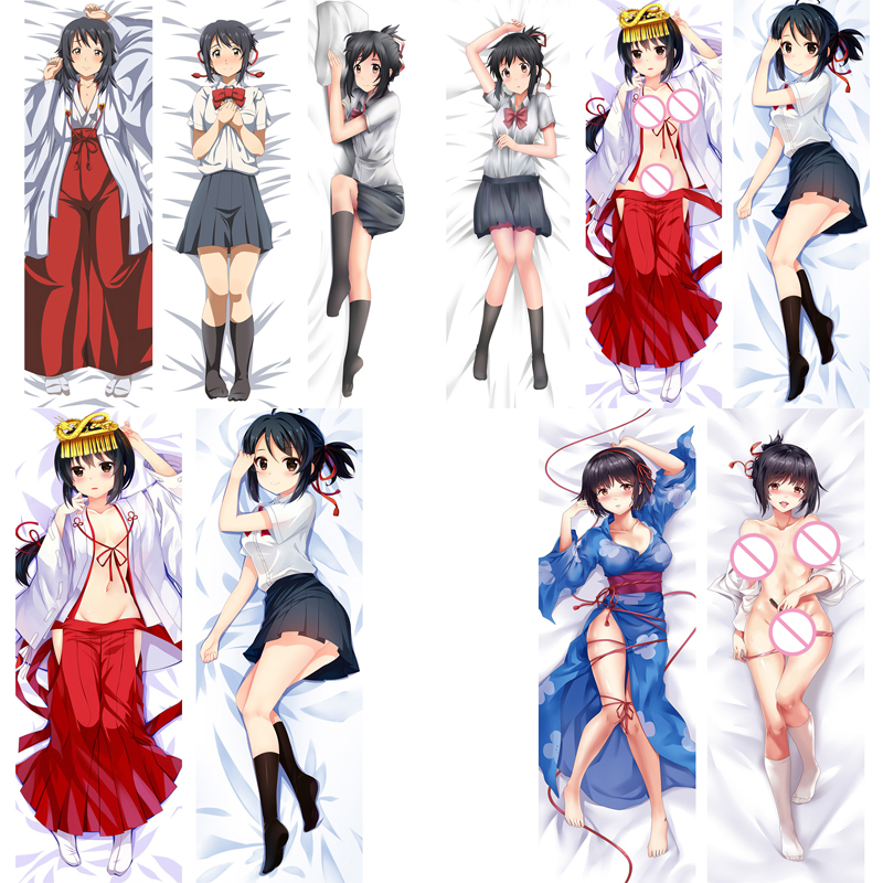 New Update Anime Your Name Characters Miyamizu Mitsuha Sexy Girl Dakimakura Throw -9511