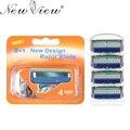 4 unidades/pacote Rosto Barba Barbeador de Lâmina de barbear Lâminas de barbear dos homens de Alta Qualidade da Sharp lâminas de Barbear 5-Blade Para Fusione Com Varejo pacote