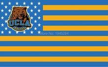 UCLA Брюинз с США Звезды Полосы Флага Баннер Новый 3x5FT 90×150 СМ Полиэстер NCAA, бесплатная доставка